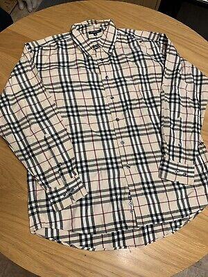 Burberry Long Sleeve Shirt - Size Medium - Nova Check