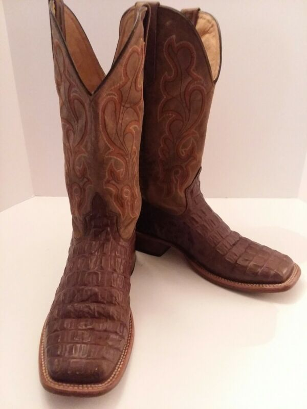 Mens, Horse, Power, 1070, By, Anderson, Bean, Caiman, Print, Cowboy, Boots, Size, 6