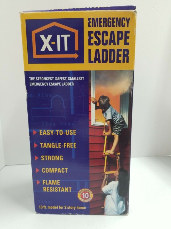 X-IT Emergency Escape Ladder 13 ft for 2 story Homes Open Box