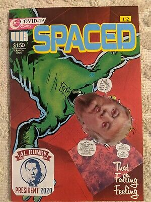 SPACED #12, mixed media, original art, FREE SHIPPING 👌 comic book mixed media