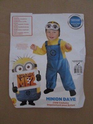 Boys DESPICABLE ME 2 MINION DAVE Halloween Costume sz 2 - 4 - Despicable Me 2 Minion Halloween Costumes