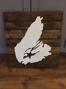 Wooden Cape Breton sign