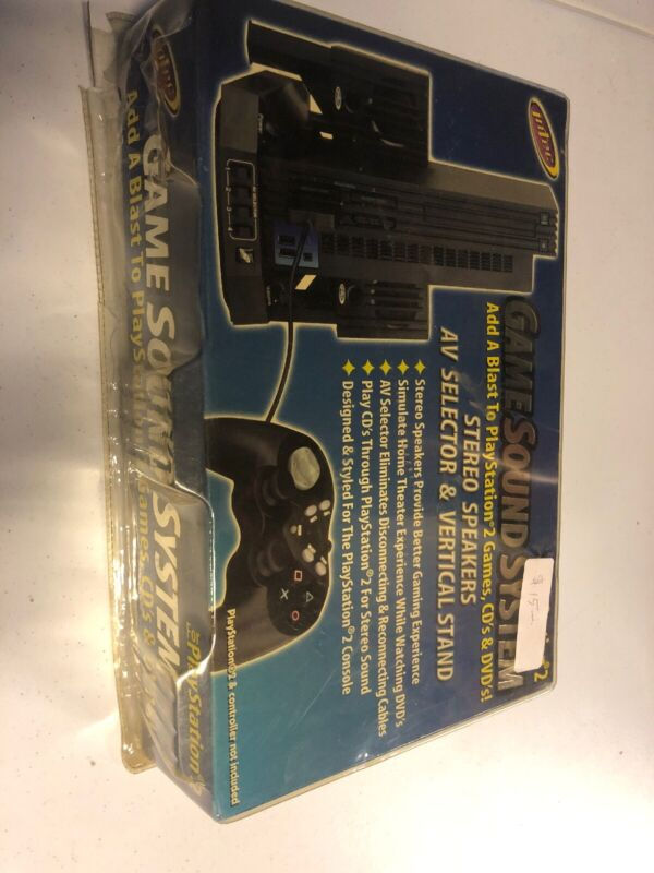Intec Game Sound System Sony for PlayStation 2, New SEALED, PS2 Audio Accessory