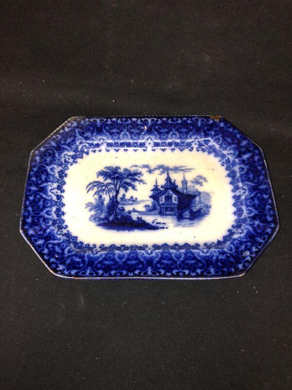 "10"" Flow Blue Platter"
