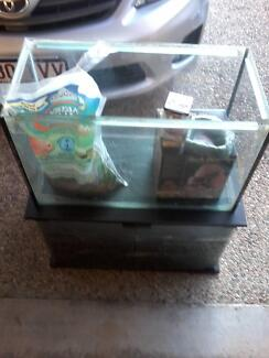 2ft Reptile Tank, Cabinet & Extras