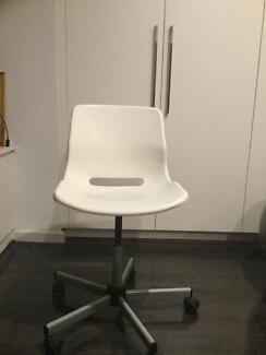 White Snille IKEA chair