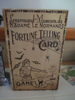 NWT Large Halloween Fortune Telling Card Game Vintage Style Faux Book Stash Box