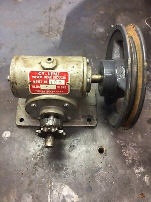 Worm Gear Speed Reducer 5 To 1 Reduction