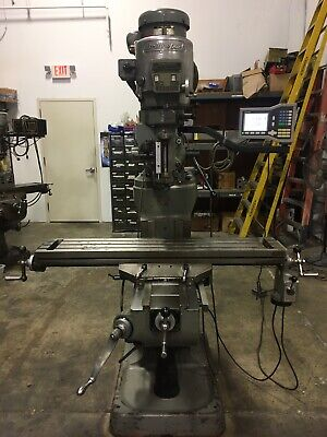 Bridgeport Series 1 Milling Machine 9x48 Table. Power Table Feed. Acu Rite Dro