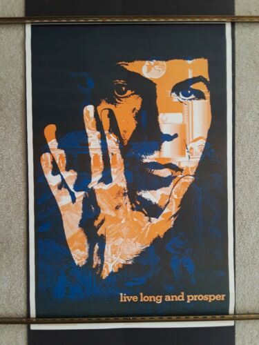 """Star Trek 1976 Spock Poster. 23"""" x 35"""" Can you feel him calling? - Free Shipping"""