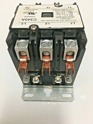 Packard C340a Magnetic Contactor 3 Poles 40 Amp Contactor 24 Volt Coil Contactor