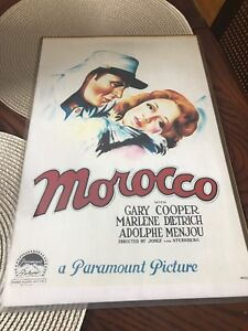 Morocco movie poster- excellent condition