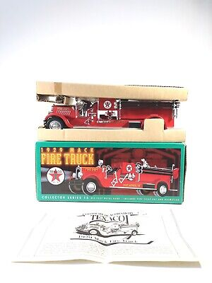 Ertl Texaco 1929 Mack Fire Truck Die Cast Bank Collector Series 15 1998 for sale  Shipping to Canada