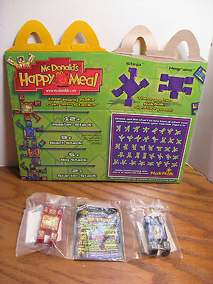 McDonalds  Kid's Meal Toy - NakNak - Red and Blue Stacking Toys w/ box - 2003 for sale  Springfield