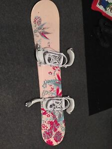 Ladies Snowboard and Boots - size 8