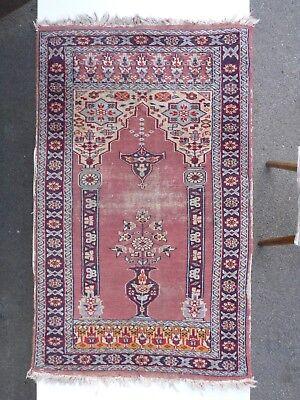 alter Teppich ca. 98,5 cm x ca. 60,0 cm, schlechter Zustand