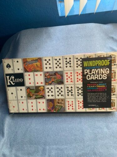 VINTAGE KLING WINDPROOF MAGNETIC PLAYING CARDS NEW