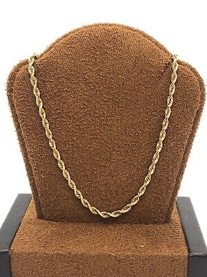 Solid 10KT Yellow Gold 417 Rope Style Chain Necklace - 24.75