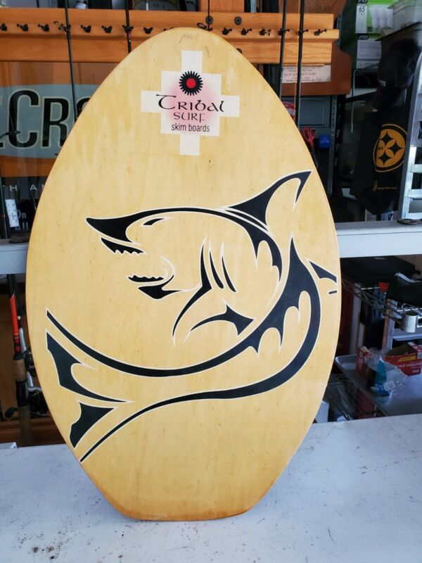 TRIBAL SURF SKIM BOARDS WITH SHARK,GREAT WALL HANGER ,MADE OF WOOD COLLECTIBLE