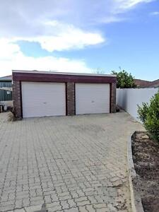 Secure, powered, double garage space AUD/BTC per month SOR