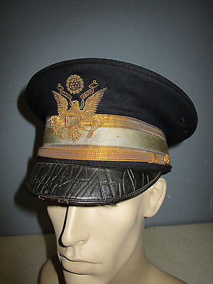US ARMY M1912 INFANTRY OFFICER FULL DRESS HAT HEAVY BULLION EAGLE EMBROIDERY #3