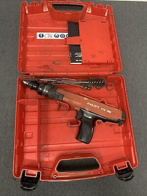 Hilti Dx-36m Powder Actuated Tool Nail Stud Gun W Case Free Shipping