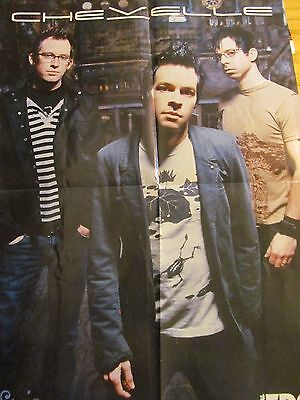Chevelle, Shadows Fall, Double Four Page Foldout Poster