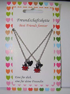 Freundschaftsketten Best Friend  Marienkäfer Geschenk Kinder-Schmuck *070* ()