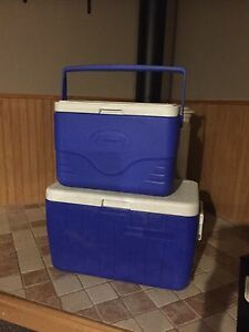 Two Coleman Coolers