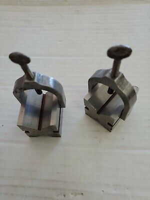 Vintage Machinist V-blocks With Clamps