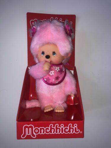 """Monchhichi 8"""" plush Pink Pinky Girl Limited Bandai New"""