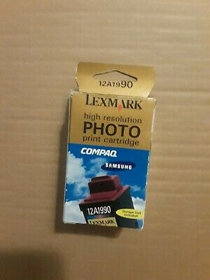 Lexmark High Resolution Black Standard Print Cartridge 12A1990 .