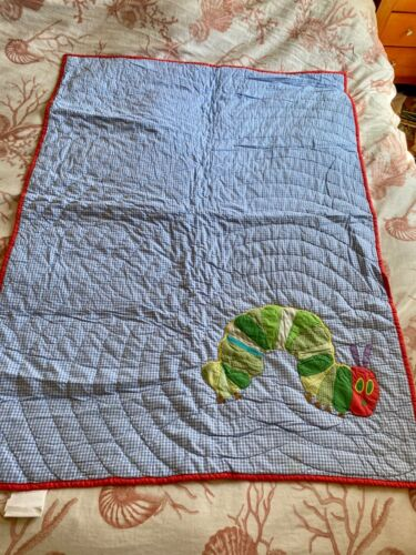 Pottery Barn Kids  Caterpillar  Toddler Quilted Cover NWOT