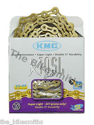 KMC X10SL GOLD Ti-N 10 Speed Bike Chain Fit Shimano Campagnolo /& SRAM NewBox USA