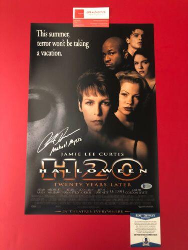 Chris Durand Halloween H20 Michael Myers Signed 12x18 Poster BECKETT COA