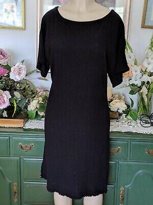Eileen Fisher (Large) Lagenlook Gauze 100% Organic Cotton Raw Hem Shift Dress
