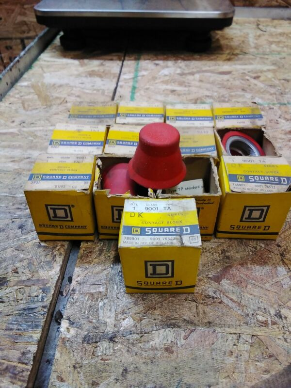 Square D 9001 TA & TA1 Contact Block Lot of 13 red