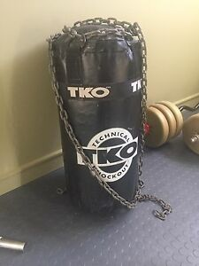 TKO punching bag with chains for hanging!