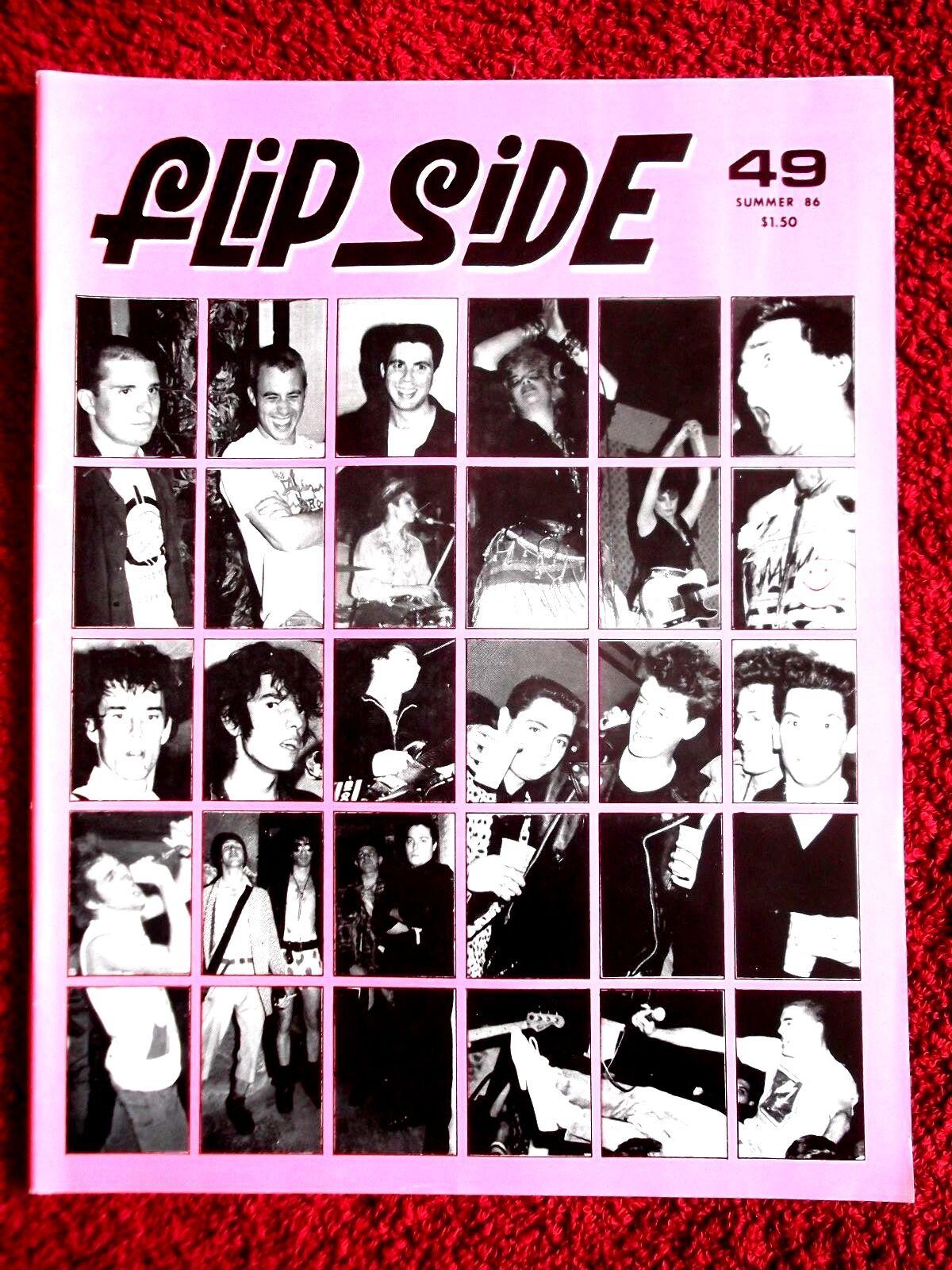 FLIPSIDE No.49 Summer 1986 Rare US Punk Fanzine Brigade,M.I.A.,Trapt,KBD,Punk,Oi