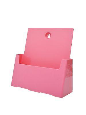 Pink Wall Catalog Holder Magazine Pamphlet Display Rack 8.5w X 11h Girls
