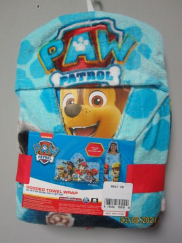 Nickelodeon Paw Patrol Hooded Towel Wrap Size 24 IN x 50 IN