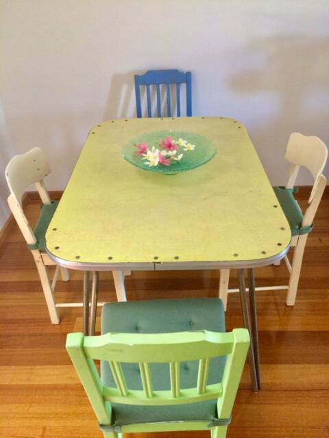Table Dining With Chairs Retro Tables Perth Gumtree