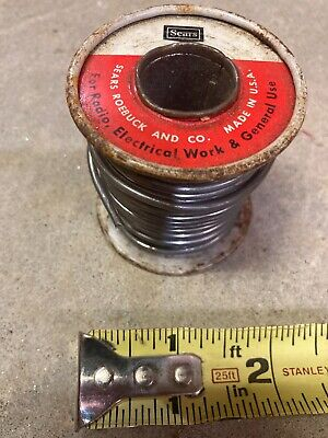 Vintage Sears Craftsman Activated Rosin Core 4060 Solder No. 98052 Made Usa