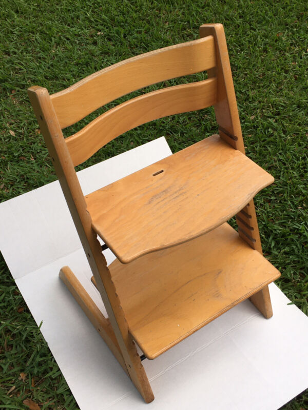 STOKKE Tripp Trapp High Chair Only Blonde Natural Wood Needs Lil TLC