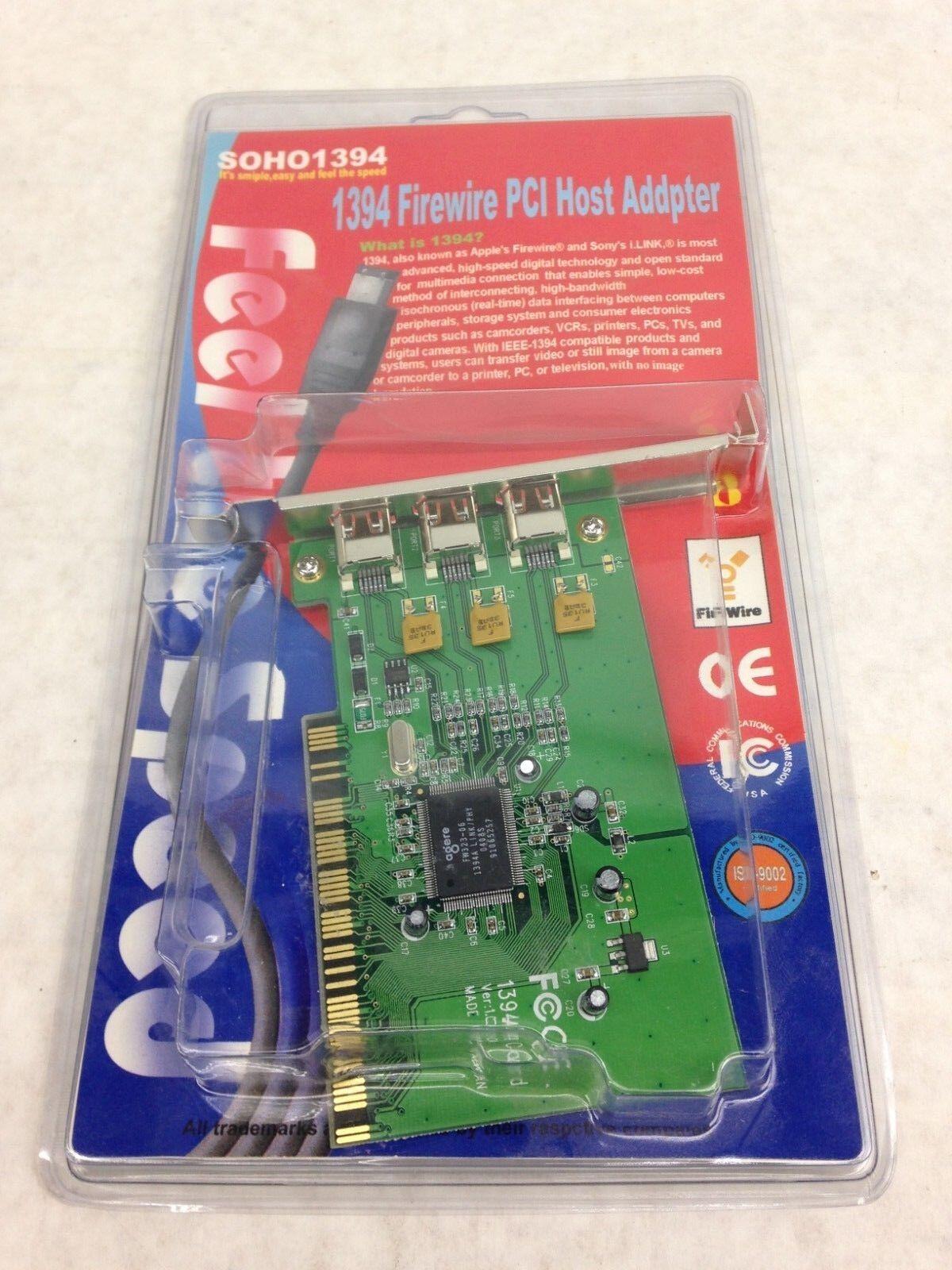 SOHO1394 Firewire PCI Host Adapter 15-102-013