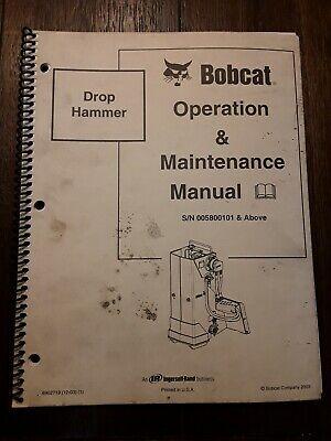 Bobcat Drop Hammer Sn 005800101 Operation Maintenance Manual