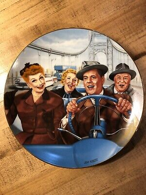 RARE VINTAGE I LOVE LUCY TV SHOW CALIFORNIA HAMILTON COLLECTION PLATE! JIM KRITZ