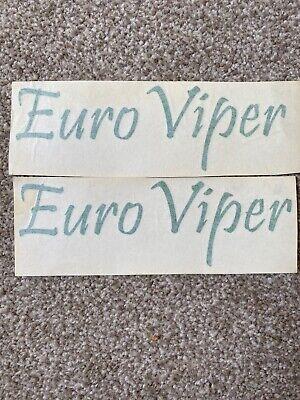 Euro Viper Bait Boat Vinyl Stickers