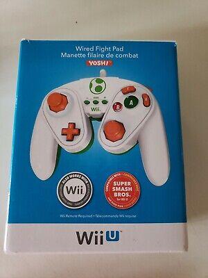 Yoshi Wired Fight Pad Controller Super Smash Bros Nintendo Wii
