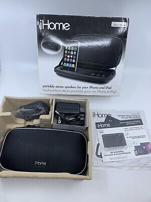 Ipod Nano Dock Stereo (iHome iP37 Portable Stereo Speakers - Iphone Ipod Dock Cradle Nano Touch Mini)